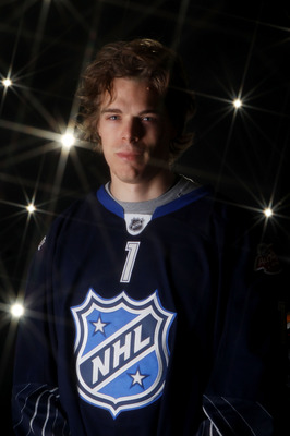 RALEIGH, NC - JANUARY 30:  Jonas Hiller #1 of the Anaheim Ducks poses for a portrait before the 58th NHL All-Star Game at RBC Center on January 30, 2011 in Raleigh, North Carolina.  (Photo by Bruce Bennett/Getty Images)