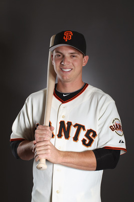SCOTTSDALE, AZ - FEBRUARY 23: Gary Brown #86 of the San Francisco Giants poses for a portrait during media photo day at Scottsdale Stadium on February 23, 2011 in Scottsdale, Arizona.  (Photo by Ezra Shaw/Getty Images)