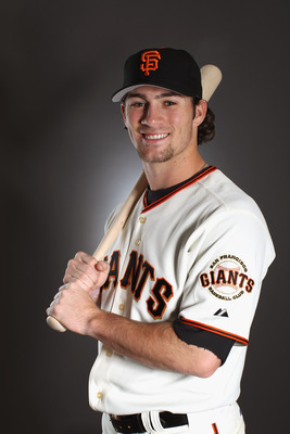 SCOTTSDALE, AZ - FEBRUARY 23:  Charlie Culberson 384 of the San Francisco Giants poses for a portrait during media photo day at Scottsdale Stadium on February 23, 2011 in Scottsdale, Arizona.  (Photo by Ezra Shaw/Getty Images)