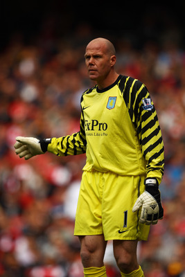 LONDON, ENGLAND - MAY 15:  Brad Friedel of Aston Villa looks on during the Barclays Premier League match between Arsenal and Aston Villa at the Emirates Stadium on May 15, 2011 in London, England.  (Photo by Richard Heathcote/Getty Images)