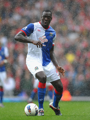 BLACKBURN, ENGLAND - SEPTEMBER 17: Chris Samba of Blackburn in action during the Barclays Premier League match between Blackburn Rovers and Arsenal at Ewood Park on September 17, 2011 in Blackburn, England.  (Photo by Laurence Griffiths/Getty Images)