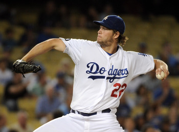 LOS ANGELES, CA - SEPTEMBER 14:  Clayton Kershaw #22 of the Los Angeles Dodgers pitches against the Arizona Diamondbacks during the first inning at Dodger Stadium on September 14, 2011 in Los Angeles, California.  (Photo by Harry How/Getty Images)