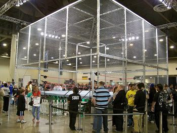 The current cell being shown off at WWE Fan Axxess in 2009 (Photo by Mark Hodgins on Flickr)