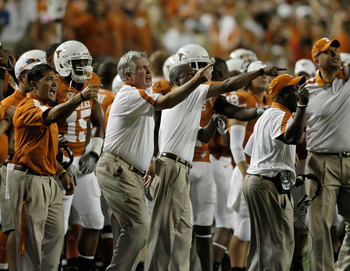 Coach Mack Brown is looking upwards for a winning season in 2011.