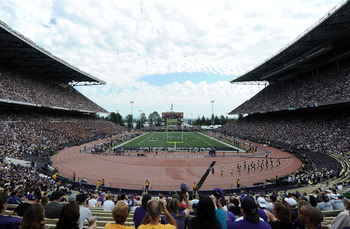 SEATTLE, WA - SEPTEMBER 24:  General view of the stadium during the game between the California Golden Bears and the Washington Huskies at Husky Stadium on September 24, 2011 in Seattle, Washington.  (Photo by Harry How/Getty Images)
