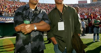 Ronnie Lott and Marcus Allen at the 2007 Rose Bowl to cheer on USC to another victory