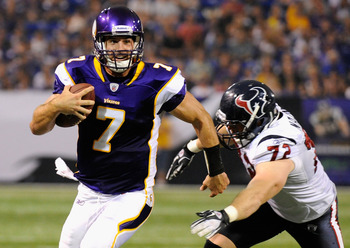 Ponder was drafted to lead the Minnesota offense in the future. His opportunity wasn't supposed to come until 2012, but it looks like it may come in 2011.