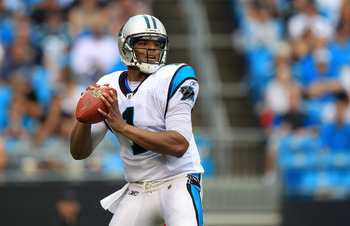 With two 400 yard passing games and Steve Smith at receiver, Newton is in a position to be successful as a rookie the rest of the way.