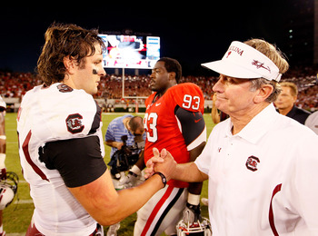 Garcia and Spurrier, a rare moment between them