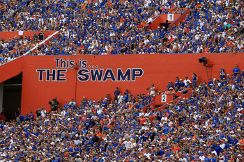 Ben Hill Griffin Stadium, or the Swamp, is one of the most hostile enviroments in the nation for visiting teams.