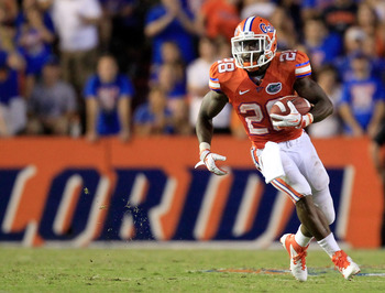 Jeff Demps is one of the fastest players in all of college football, and has proven that time and time again in his career with the Gators.