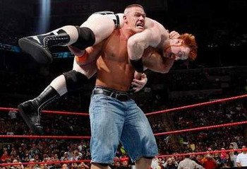 Pictured: Sheamus once again showing his Celtic dominance knows no bounds.