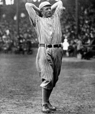 Christy Mathewson was near the end in 1914