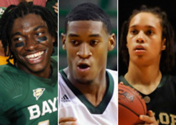 Robert Griffin III, Perry Jones III, Brittney Griner