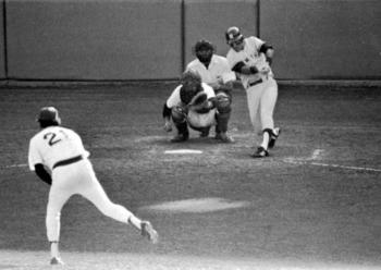 Bucky Dent hits his famous home run.