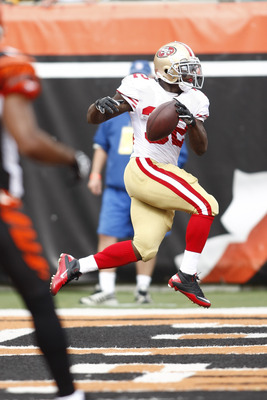 Kendall Hunter scored the 49ers' only touchdown last week