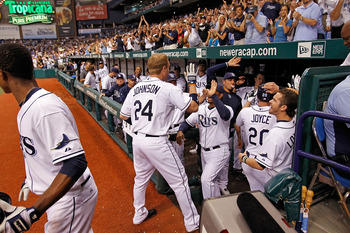 Dan Johnson's homer - Yankee fans didn't mind
