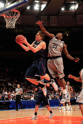 Georgetown and UConn battle in the Big East tournament.