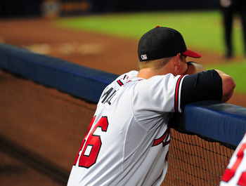 Craig Kimbrel during the Braves season ending loss to the Phillies.