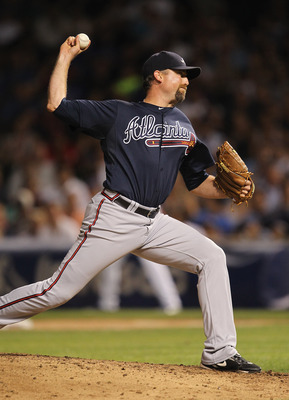 Scott Linebrink stepped up for the Braves while Peter Moylan was out.