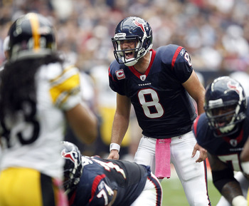 Matt Schaub directed Texans' 17-10 win over the Steelers