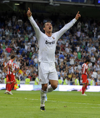 Celebrating his 41st of the 2010/11 La Liga campaign