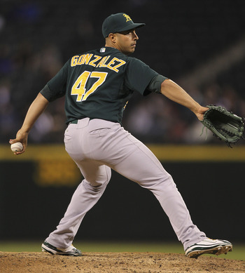 Starter Gio Gonzalez was the A's lone representative at the All-Star Game
