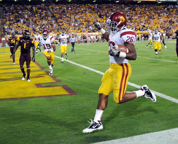 USC RB Marc Tyler is the starter, but Curtis McNeal has done a better job in relief the past two games