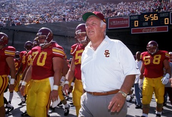 USC coach John Robinson returned to coach the Trojans