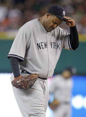 CC Sabathia was removed in the 6th inning of Game 3