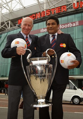 Bobby Charlton and Eusebio