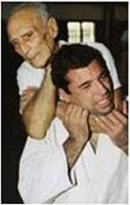 Helio Gracie with son, Royce Gracie