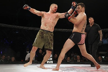 Many believe Stipe Miocic (right) could be an impact player in the UFC's heavyweight division. (Photo courtesy of sherdog.com)