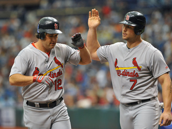 Lance Berkman and Matt Holliday key the Cardinals offense
