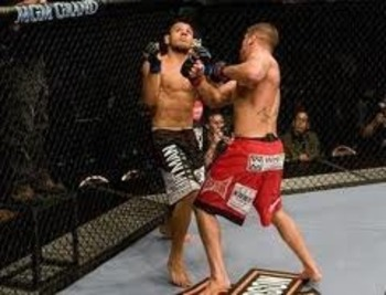 Jeremy Stephens delivering a brutal uppercut