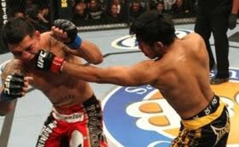 Nam Phan tagging Leonard Garcia with a straight left