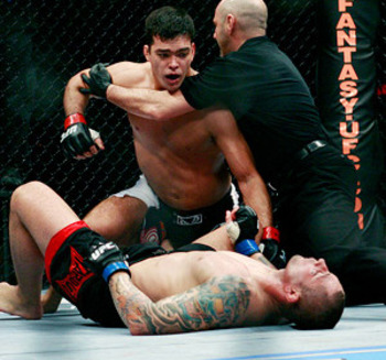 Thiago Silva tried to take Machida down...didn't work out too well