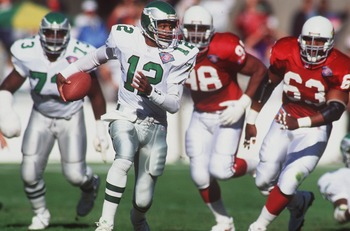 Randall Cunningham was unique in his ability to find daylight.