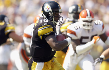 Kordell Stewart got the Steelers to the AFC Championship where they fell to John Elway and the Broncos in one of Stewarts best career games.
