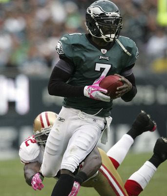 Michael Vick brought back the triple running threat to professional football in tandem with the Falcons FB and TB during his time there.
