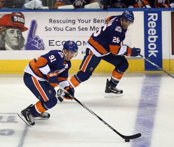 John Tavares (91) and Matt Moulson (26) will play crucial roles in determining the Isles' fate this season.
