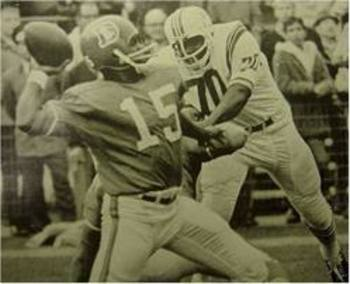 Marlin Briscoe was the first African American to be a starting quarterback in the NFL.  He also played wide receiver for five other teams, most notably the undefeated 1972 Miami Dolphins.