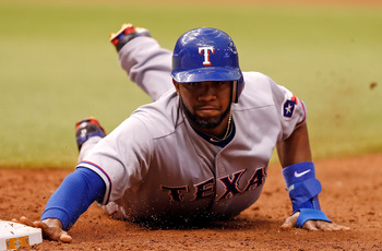 Elvis Andrus fantasy baseball base stealer