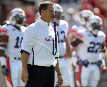 Auburn head coach Gene Chizik and his staff have several issues to fix going forward