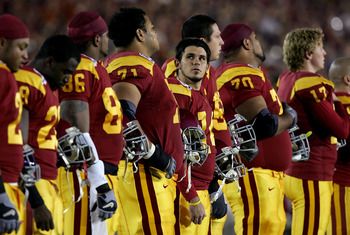 The USC Trojans, Ranked No. 1 in Oct BCS, lost to Texas in the 2005 National Championship Game in the Rose Bowl