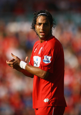 MIDDLESBROUGH, UNITED KINGDOM - SEPTEMBER 27:  Mido of Middlesbrough during the Barclays Premier League match between Middlesbrough and West Bromwich Albion at the Riverside Stadium on September 27, 2008 in Middlesbrough, England.  (Photo by Julian Finney