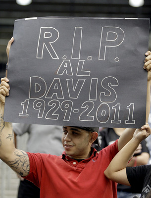 This was the Raiders' first game since the passing of owner Al Davis.