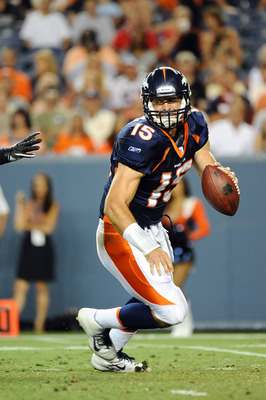 Tebow running vs. Seattle August 27, 2011