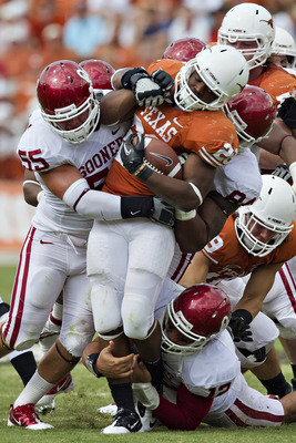 The Sooner's defense held the Longhorns to 56 yards 44 carries.