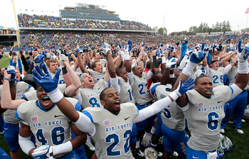 Air Force beating Navy in overtime 35-34